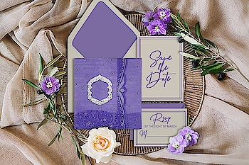 #Purple color wedding #invitations imbue a beautiful, regal feel to any #reception or #wedding party. Add a #foil accent or an #unique border for a finishing touch. Browse all the Purple invitations #designs: https://www.123weddingcards.com/color/purple-wedding-invitations  #weddinginvites #foilinvitations #invitationcards #weddingcards #uniqueinvitations #marriagecards #Indiancards #123WeddingCards