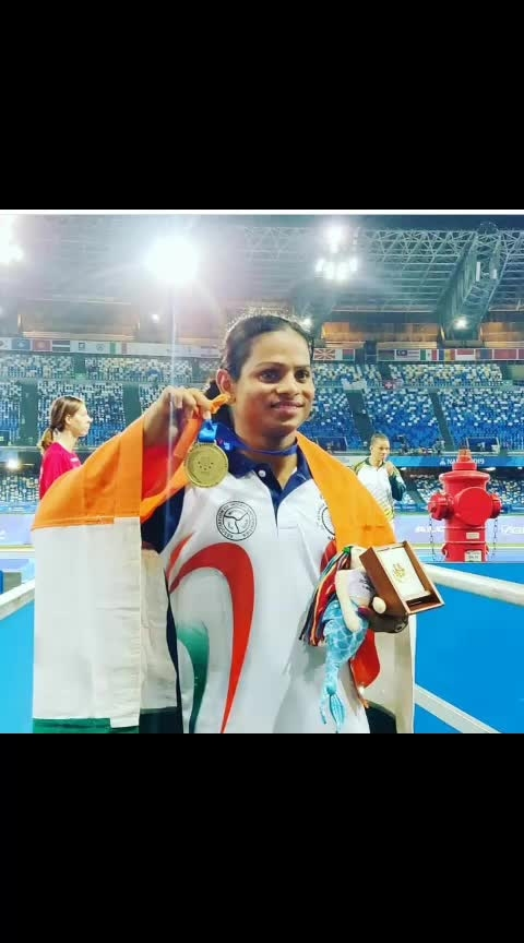 National record holder Dutee Chand became the first Indian woman track and field athlete to clinch a gold medal in the World Universiade after she won the 100m dash event in Napoli.  The 23-year-old Dutee clocked 11.32 seconds to win the gold as she led the race from start to finish #duteechand #goldmedal #goldmedalist #newrecord #new_record #sportstv #roposo-sport #sportschannel #sportschannel #dailypost #followmeonroposo