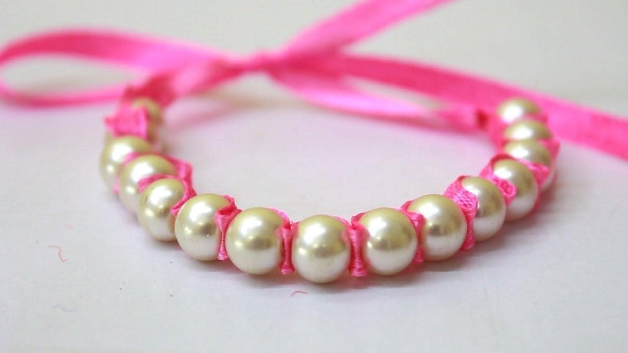 Pearl bracelet making at home/ Friendship bracelets/ How to make bracelets/ friendship band