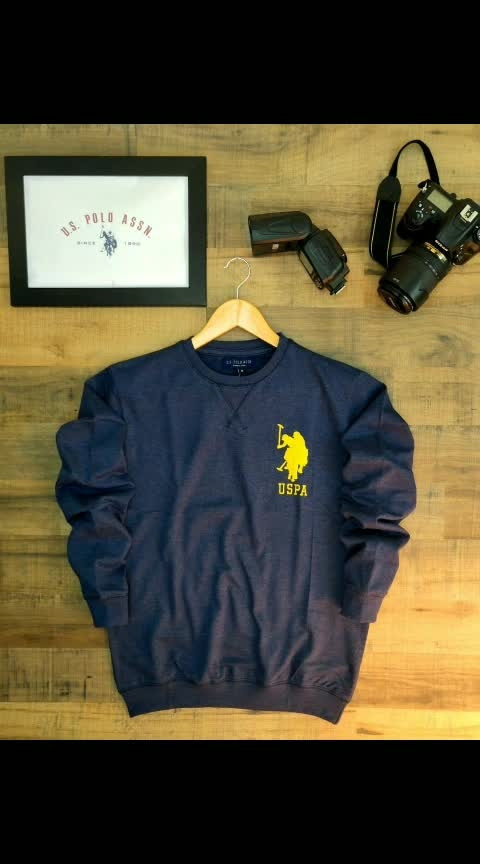 *LOOPKNIT SWEATSHIRTS*  Brand - *US POLO*  Style - Men's x-neck sweatshirt ...WITH *chest Embroidery*  Fabric - 100% Cotton  LOOPKNIT fabric   GSM -    260+  Color -  5  Size -    *M L XL*  Price -  *649+$*  ⚡All Goods are in single pcs  packed  *20-7-19 DISPATCH DATE*