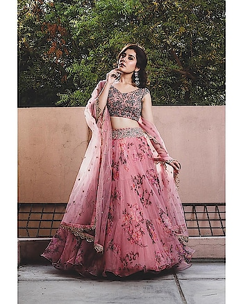 Actress Raashi Khanna is looking beautiful in Mrunalini Rao's floral Lehenga!!  Discover designer's festive collection of Lehengas and Kurtas at Deval The Multi Designer Store now!!! #devalstore #ahmedabad #designerwear #designercollection #latestcollection #bridalwear #weddingwear #multidesignerstore #anushreereddy #designerstore #womensclothing #bridalpreview #designeroutfit #wedding