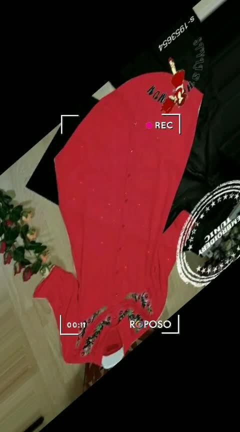 Ladies Rayon Embroidered Tunics*