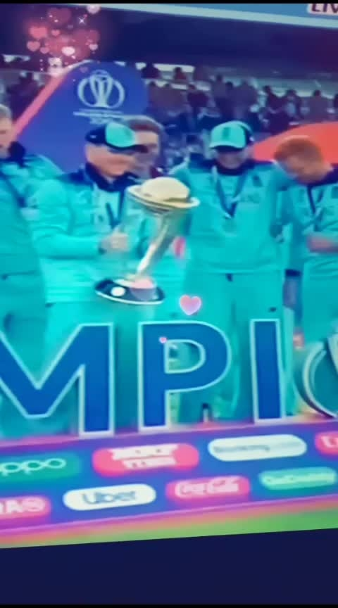 England win Cricket World Cup after super-over drama against New Zealand....#cwc2019 #england #worldcup2019