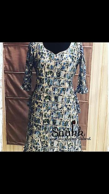Don't dress to impress but dress to express! #dresses #summerwear #springsummer2019 #crochetdress #gatherers #ilovesaakk #saakk #saakkbysakshi #saakkyourimaginationtailored