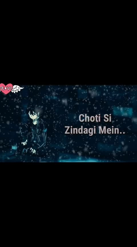 Choti si zindegi mein, bada sabak mila...#sad #status #whatsapp #love #heartbroken #life #life-quotes #cry #sadness