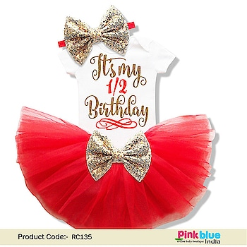 It's My Half Birthday dress - Half Birthday Girl Outfit Contact :+918000011699 Shop Now : https://www.pinkblueindia.com/its-my-half-birthday-dress.html  #babygirl #romper #babyromper #onesie #babyonesie #halfbirthdayonesie #halfbirthdayoutfit #babyoutfit #halfbirthday #birthdayonesie #tutu #skirt #birthdaydress #halfbirthdayphotoshoot #cakesmashoutfit #newbornbaby #pinkblueindia