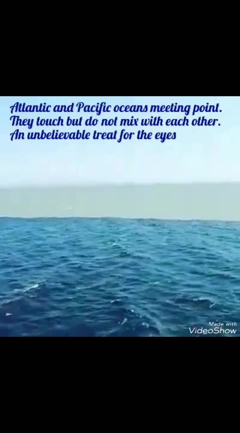 atlantic Ocean and Pacific Ocean touches but not mix