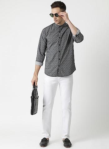 Monte Carlo - Grey Printed Collar Shirt   Link: https://www.montecarlo.in/product/monte-carlo-grey-printed-collar-shirt/13025  #collartshirt #montecarlo #menfashions #style #trending #roposo #soroposofashion