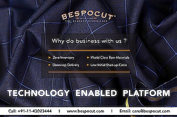 Why do business with us?  Know more by Contacting us @ +91-11-43023444 Visit our website: www.bespocut.com  #bespocut #bespocutexperience #bespokeexperiencezone #suit #fabrics #business #bespoke #technology