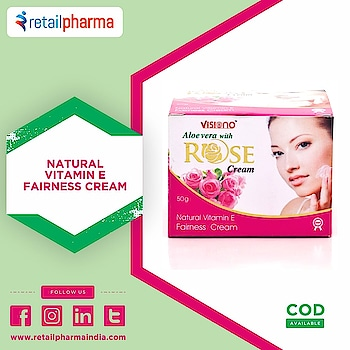 Visiono Aloe Vera With Rose Face Cream 50 Gm Buy Now-https://bit.ly/2XTKHL8  Rich in moisture Nourishes dull and dry tired skin It's aloe vera anti-oxidants help improve skin texture, appearance and moisturize dull and dry skin Cleanses.  #RoseFaceCream #FaceCream #FairnessCream #VitaminECream #AloeVeraCream #VisinoALoeveraCream #RetailPharma