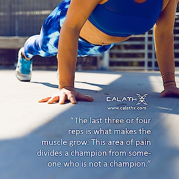 #Arnold Schwarzenegger #inspirational Quote  www.calathx.com  #Fitspo #Fitfam #GirlsWhoLift #Legday #NoPainNoGain #FitLife #GetStrong #Workout #MondayMiles #TrainHard #Gains #Strengthtraining #Physiquefreak #Fitness #Yoga #CrossFit #FitFluential #Fitnessfriday #Squats #Health #Healthylife #like4like #follow #calisthenics
