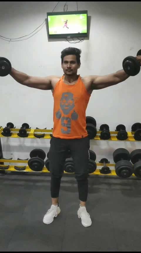 side lateral to front raise #shoulder #exercise #fitness