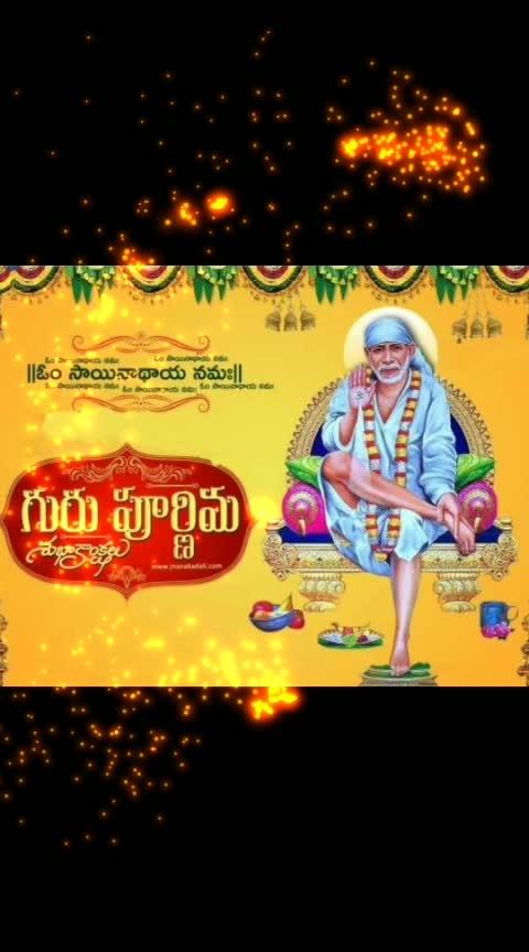 Happy Guru pournima ..#gurupournima #lordsaibaba