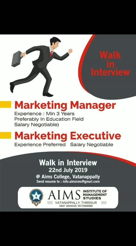 ഫോളോ ചെയ്യൂ... ജോലി നേടൂ.... കൂട്ടുകാരിലേക്കും ഷെയർ ചെയ്യൂ...  #Job4joy #Jobvacancy #job #kerala #carrier #gulfjob #jobnews #vacancynews #instajob #instajobs  #trending #trendigjobs #itjob #newjob #newjobs #jobupdate #2019