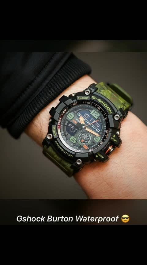 ✨ *Gshock Mudmaster* ✨  # G-Shock # For Men # Specifications :: Mud Resistant , 200M Water Resistant , Digital Compass , LED backlight , Auto LED Super Illuminator Backlight, selectable illumination duration, Afterglow ,World Time , Day Date & Time  , 31 time zones *(48 cities + UTC) , 5 Daily Alarms (4 one-time and 1 snooze alarm)* ,1/100 Second Stopwatch ,Full Auto Calendar (Pre-programmed until the year 2099) , Weight : 92g , Cash size : 56.2 × 55.3 × 17.1mm , Og Quartz Machinery Inside , Green Slim Fit Belt  *Avlb In Stock @ Rs 2150/+Ship*  *Gshock Original Showroom Tin Box*..al LM
