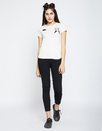 Madame - White Embroidered Top   Link - https://www.glamly.com/product/white-embroidered-top/476  #embroideredtop #whitetop #madame #womenfashion #roposo #onlinestore