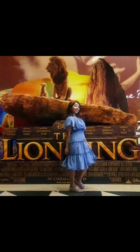 Have u watched #lionking yet? I did n fell in #love again with this #childhood #favourite #movie   #wednesday #wow #sayantibanerjee #anchor #anchoring #emcee