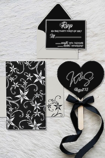 #Gorgeous Black color #Matte paper #floral theme wedding #invitation card by #123WeddingCards. Also available in 9 other colors. Product Code: C-8225A Product Price: $1.10 In the Box: One Card, One Envelop, Two Inserts Order your samples here: https://www.123weddingcards.com/card-detail/C-8225A #marriagecards #shaadicards #marriageinvitation #weddinginvites #floralinvites #invitationdesigns #onlinecards