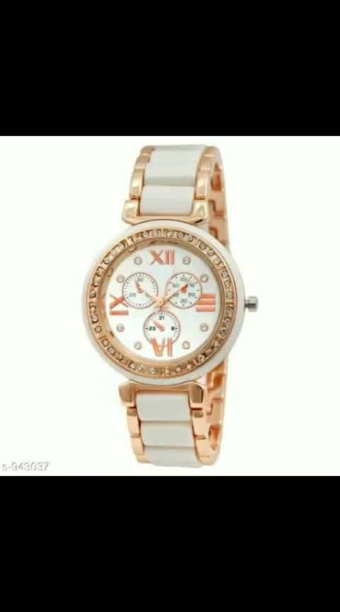 *Women's Stainless Steel Analog Watches*