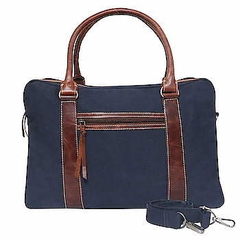 FLINT Canvas Duffel Bag for Travel 40 ltrs (Blue)  This Travel Bag is made of High Density water resistant canvas material and superior quality leather to ensure long lasting durability and strength to handle 40 Liters luggage. The Product Dimensions Is 43.2 x 20.3 x 25.4 cm (LxHxW). Would Work Great As A Carry On While Flying, On The Train, On The Bus, Or In Any Form Of Transportation. It'S Very Spacious And Can Hold At Least 2-3 Days Worth Of Clothes  https://amzn.to/2JD5eQr