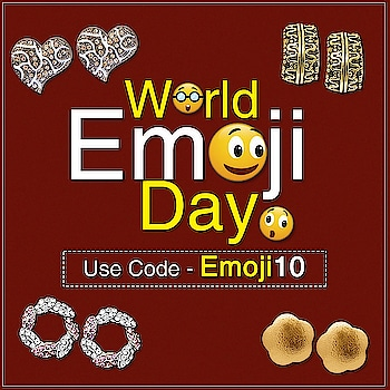 TODAY BEING WORLD'S EMOJI DAY  WE ARE GIVING 10% OFF ON OUR PRODUCTS  SHOP NOW :- https://bit.ly/2M1ReRX  #WorldEmojiDay #Jewellery #JewelMaze #Online #OnlineShopping