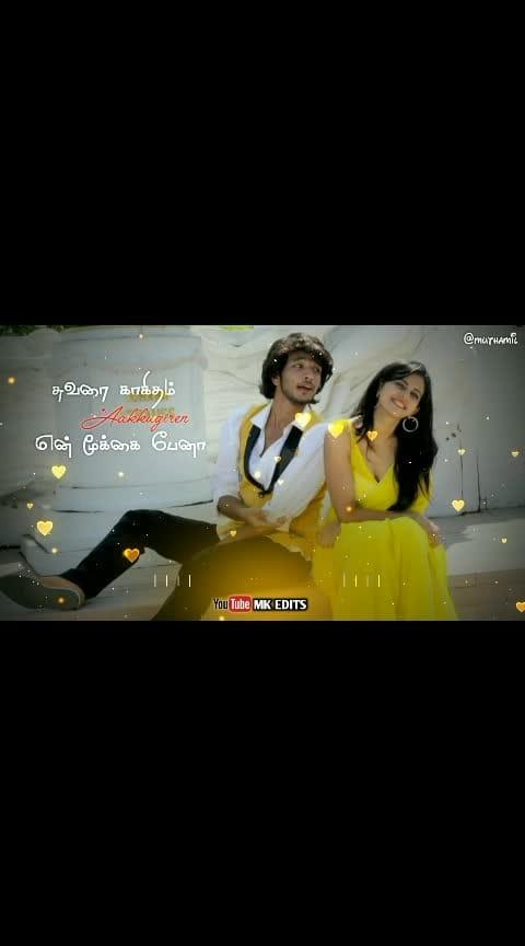 Muttalaay muttalaay aanene naan..... #tamilwhatsappstatus #whatsapplovestatus #roposo-beats #love_song #gowthamkarthik #rakulpreetsing #ennamoyedho