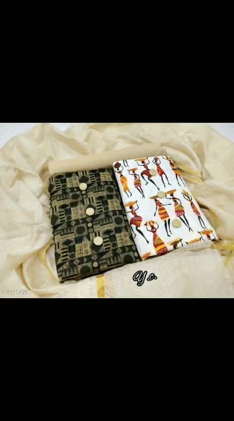 *Myhra Stunning Jacquard Cotton  Printed Suits & Dress Materials Vol 2*