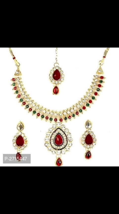 *Check it Out:* https://myshopprime.com/collections/46509160 Partywear Kundan Necklace Sets  *Material*: Variable  *Delivery*: Within 6-8 business days  *Returns*:  Within 7 days of delivery. No questions asked    ⚡⚡ Hurry, 4 units available only