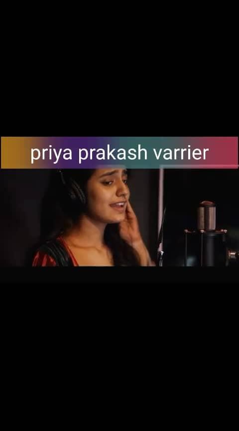#priyaprakashvarrier #singingsolo