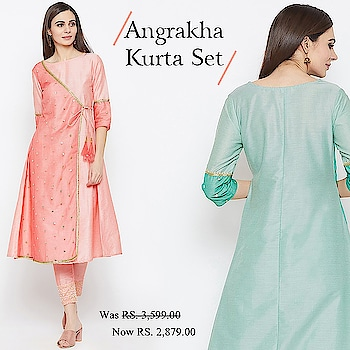 Angrakha kurta set!  https://bit.ly/2EpkkqO  #9rasa #colors #studiorasa #ethnicwear #ethniclook #fusionfashion #online #fashion #like #comment #share #followus #like4like #likeforcomment #like4comment #ss19collection #kurta #kurtaset #angrakha