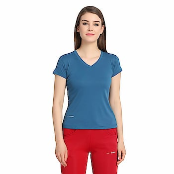 ACTIWEAR Women V Neck Casual wear Half Sleeve T-Shirt  Rs. 599/- Click here for buy: https://amzn.to/2JER6pR