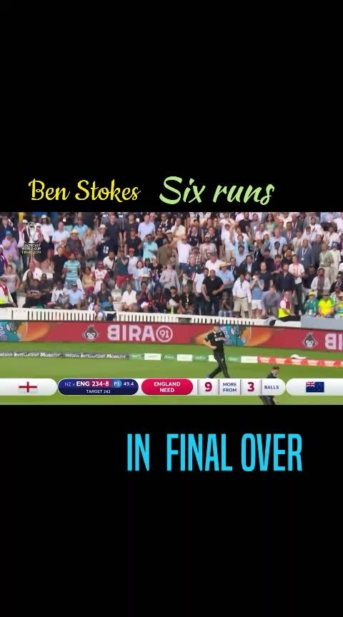 Ben stokes accidental six in final over #sportstvchannel #roposo-sports