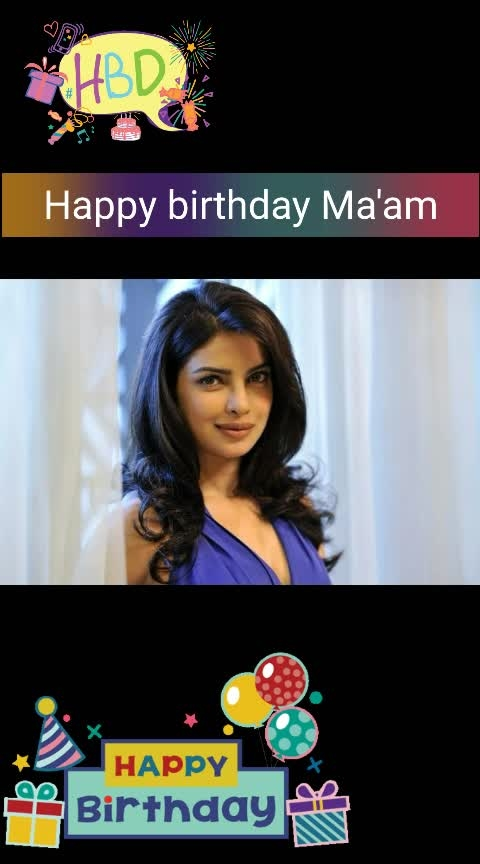 Happy birthday Ma'am.... Today is special because you are special. Have a wonderful birthday with family, friends and all those whose company you enjoy. Cheers! May your special day be fantastic, marvelous, and unforgettable… just like you! 😊😊😍😍😍 💐💐💐💐🎂🎂🎂🎂🍰🍫🍰🍫🍰🍫🎈🎈🎉🎉🎁👍 Miss world 2000 Happy birthday to the queen of the world. 18th July 2019  God bless you ma'am 🙏 #hbdpriyankachopra   #happybirthdaypriyankachopra #bollywoodactrees #my-fav #actressfashion #roposowishes #roposo_like #roposochannel #roposolookgoodfeelgood #ropo-style #ropso-love