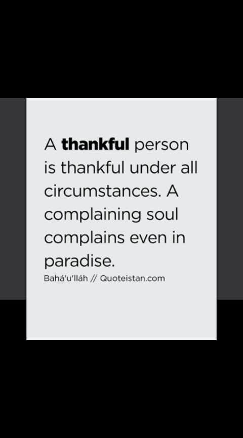 Always show ur #gratitude