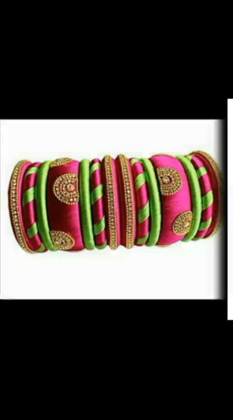 For simple party wear #silkthreadbangles #handmadejewelry #buy-now #online-shopping #teluguwedding #pelli #weddingaccessories