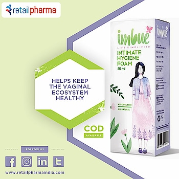 Imbue All Natural Intimate Hygiene Foam 50 Ml  Buy Now-https://bit.ly/2LsmjP4  Imbue Intimate Hygiene Foam is the one-stop solution to your intimate hygiene problems.  Naturally formulated, it cleanses, moisturizes, and helps in reducing irritation, itching while preventing bacterial and fungal infections  #IntimateHygiene #HygieneFoam #HygieneCare #WomenCare #ImbueIntimateHygieneCare #WomenHygieneCare