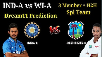IN-A vs WI-A dream11 playing11 pitch report | IN-A vs WI-A 4th odi dream11 team|IN-A vs WI-A dream11