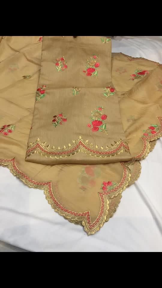 Rate:2450/-   cotton allover silk dupata Unstiched suit