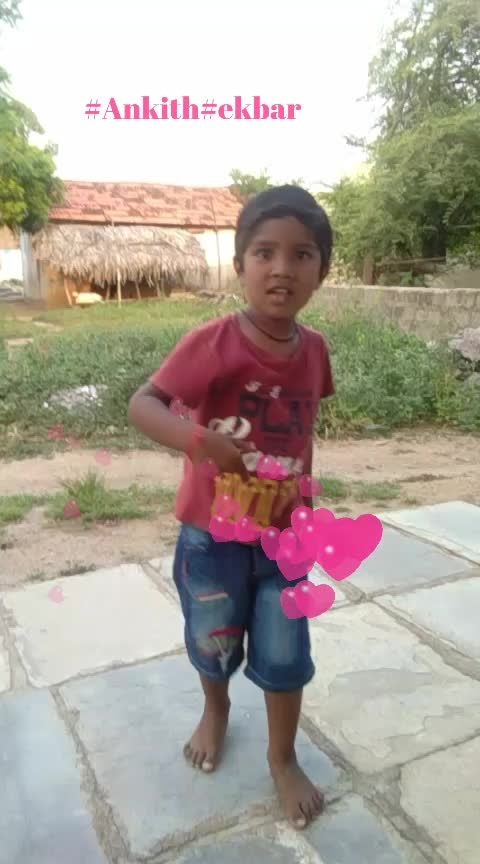 #itsdancingtym🤘#let  me introduce my new frnd #Ankith ...#Ekbar .. #vibes #super ra ankith #support him😍😍
