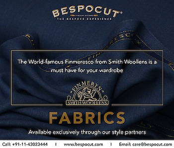 Suiting fabrics from Smith Woollens  Contact us @ +91-11-43023444 Website: www.bespocut.com  #bespocut #bespocutexperience #bespokeexperiencezone #smithwoollens #suits #fabrics