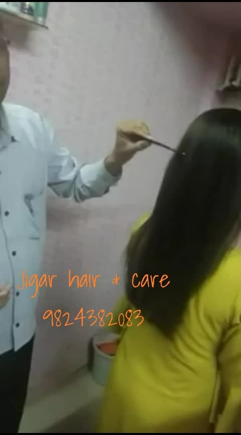 💇‍♀hair Straightening jigar hair & care 9824382083 💇‍♀