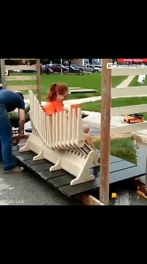 super flexi chair in park & bus stop