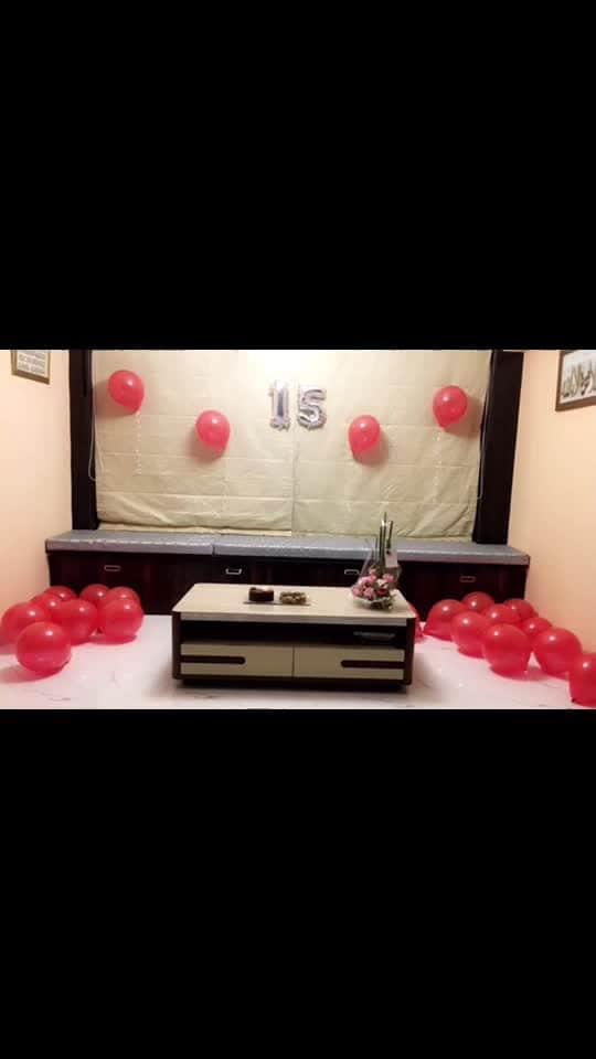 #15birthday #surprise 💝 #gucci #red #ballon #cake ✨