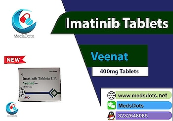 Indian Glivec 400mg buy Online | Generic Imatinib Tablets Price India | Veenat 400mg Supplier   Buy #Natco Veenat 400mg Tablets made by Natco Pharma with certain brand such as #Imatinib 400mg tablets, #Imat 400mg Tablets by Biochem Pharmaceutical Industries, #Indian Glivec 400 mg Tablet by Novartis India Ltd, #Lupinib 400 Tablet, #Mitinab 400mg Tablet etc containing #Imatinib Mesylate with Medsdots:The True Indian Pharmacy who always worried for your healthcare. MedsDots exports Imatinib 400mg & 100mg tablets is very useful to treat various types of diseases like #Blood Cancer(chronic myelogenous leukemia, acute lymphocytic leukemia) and #Gastrointestinal stromal tumors, all over the world like USA, Hong Kong, China, Australia, UK, UAE, Jordan, Saudi Arabia, Pakistan, Malaysia, Singapore, Ukraine, Russia, Vietnam, Philippines, Poland, Venezuela, Romania, Hungary, Taiwan, New Zealand, Ecuador, Thailand, Cambodia, Belarus, Latvia, Zimbabwe, Fiji, Laos, Kenya, Lebanon, Libya, Luxembourg, Peru, Uruguay etc. For contacting ping us with call/WhatsApp/Viber/Telegram: +919953810074, QQ: 3232648085, WeChat/Dingtalk/Skype: medsdots, Mail:medsdotss@gmail.com