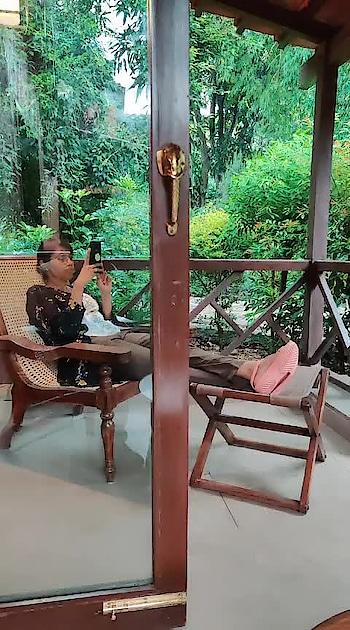 #balconyview #jimcorbett #itsraining #peace  #plants #travelgram #traveldiaries #tajcorbettresort