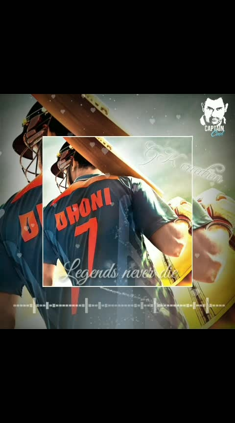 legends never die..@MSDHONI...