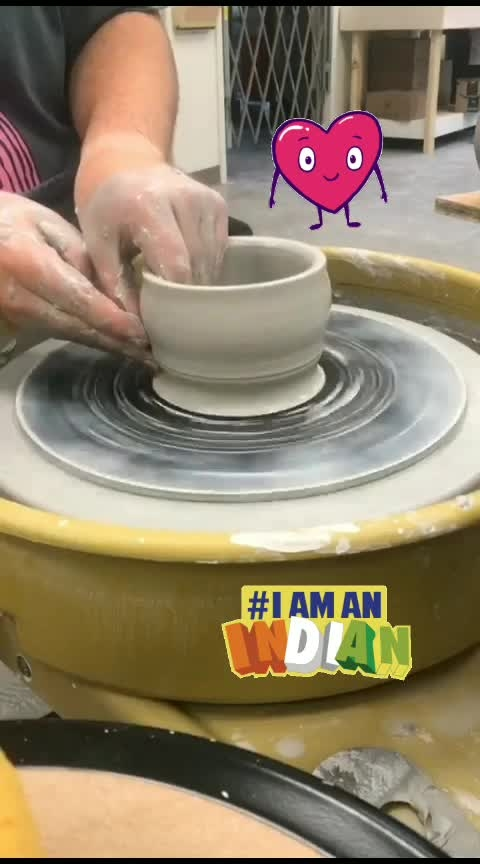 #making bowel #bowl #creative #crafting #craftyfingers #created #handmade #clayart #sand #mudd#claywork #hand #wheel #maker #roposomic #loveness #roposo-creativeartist #artist #roposo-creative #creativespace