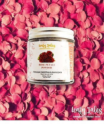 LeafyTales Rose Petals Powder 100 gm  Rs. 179/- Click here for buy: https://amzn.to/2SuisBI