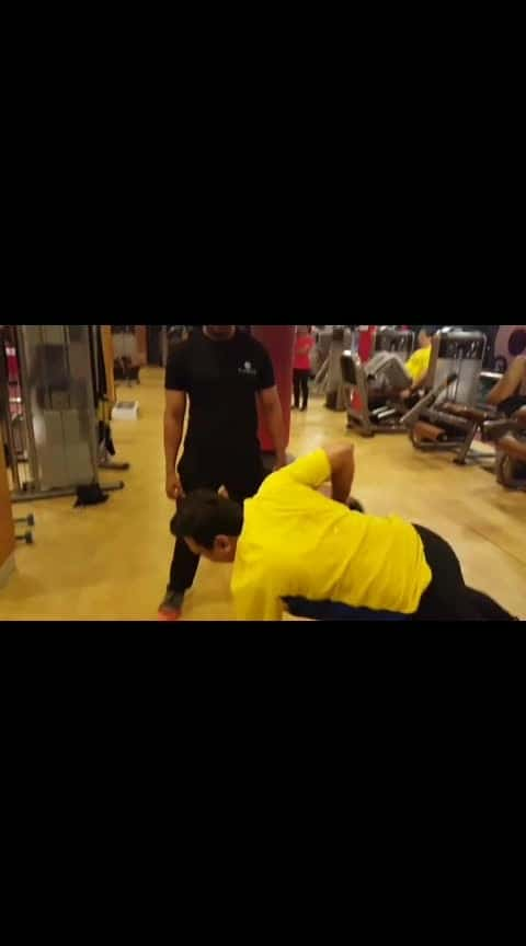 """My client Abhishek Gupta sir doing """"RENEGADE ROW""""  what are renegade rows good for? """"The renegade row is a multi-purpose, multi-joint exercise that increases strength in the back, shoulders, triceps, and biceps. This two-in-one exercise will also actively engage the core throughout the range of motion. Place two dumbbells on the floor about shoulder-width apart"""".   #renegade_row #backexercise #core_stability #workout #fitness_freak #gymmotivation #new_techniques #personaltrainer #muramali #ozoneplatinumfitnessclub #platinumfitnessclub #bestgyminhyderabad #bestfitnesscenter #hyderabadgym  #krisgethin #strong #stayfit #fitfam #fitness #gym #fitnesscenter #fitnessgoals #dumbellrows"""