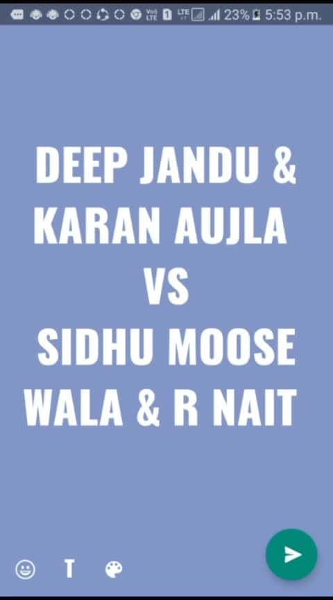 pool sidhu moose wala and r nait vs karan aujla and deep jandu #sidhumoosewala #karanaujla #rnait #deepjandu